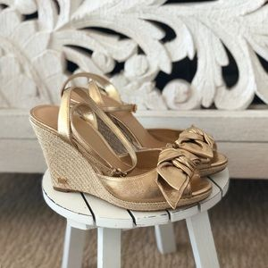 Michael Kors Gold Bow Wedges